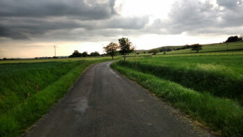 Atmospheric sky in the Tarn.