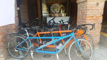 Tandem bikes in the Tarn.